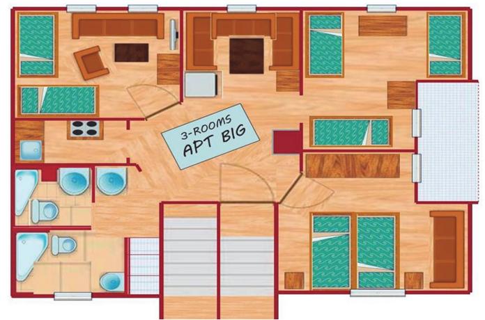 3 zimmer appartement bratislava. Black Bedroom Furniture Sets. Home Design Ideas