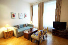 Appartement Prag Nationaltheater Wohnzimmer