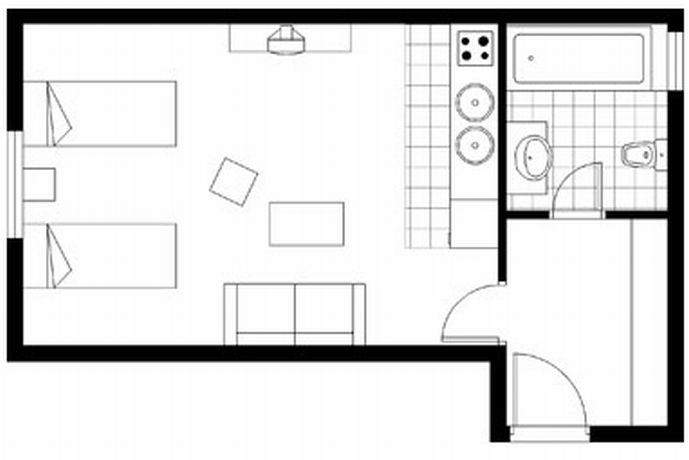 angenehmes studio wenzelsplatz your. Black Bedroom Furniture Sets. Home Design Ideas