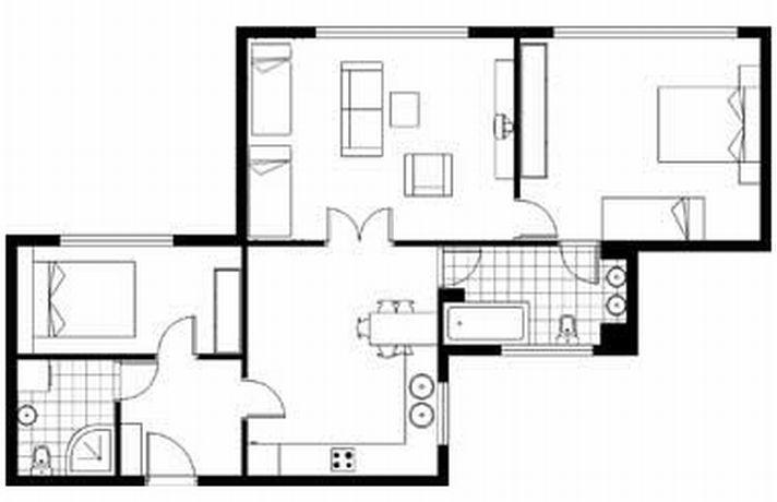 luxus apartment in prag myslikova your. Black Bedroom Furniture Sets. Home Design Ideas