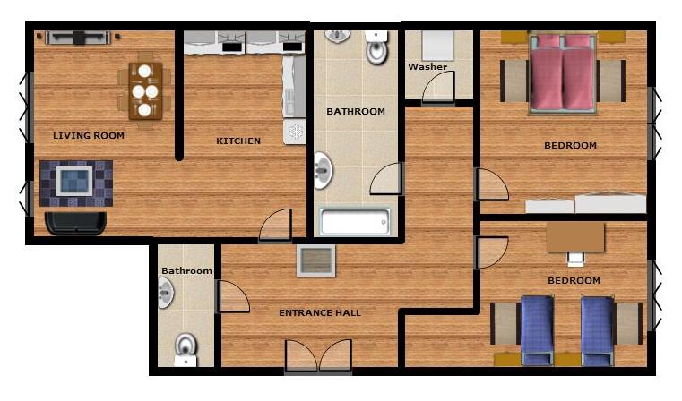 unterkunft f r eine gruppe von prag 5 your. Black Bedroom Furniture Sets. Home Design Ideas