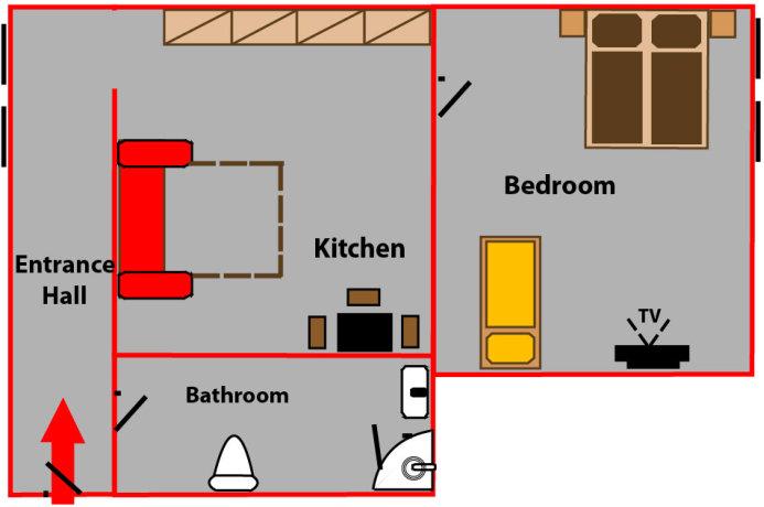 komfortable unterkunft prag andel your. Black Bedroom Furniture Sets. Home Design Ideas