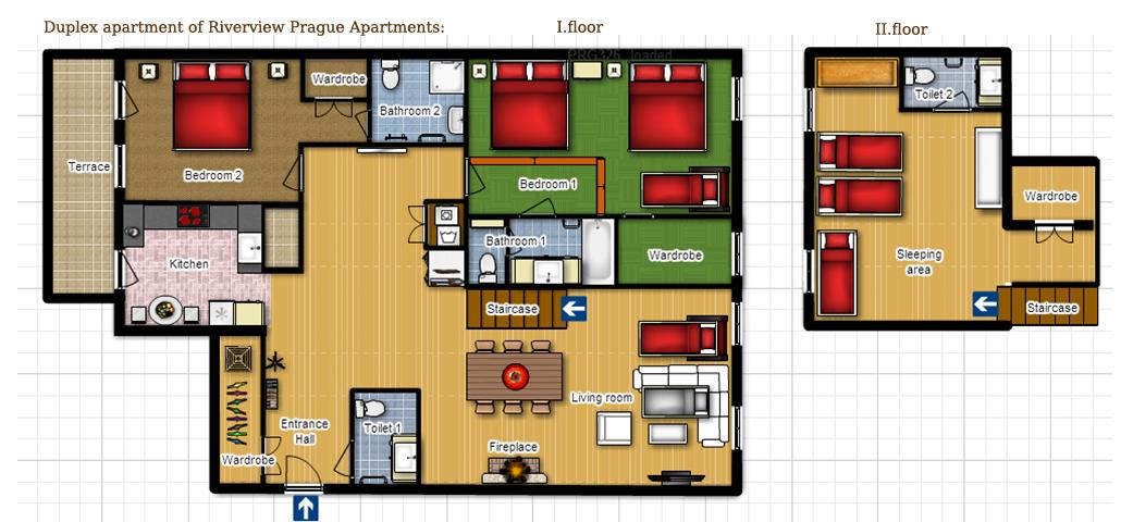 duplex riverview apartment. Black Bedroom Furniture Sets. Home Design Ideas