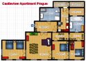 Your Apartments - Castleview Apartment Grundriß